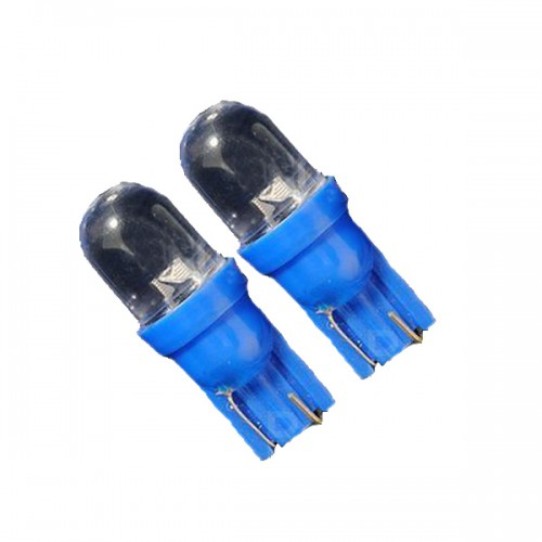 10 X T10 168 194 501 Blue LED Side Car Light Wedge Bulb