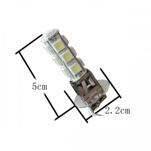 2X H3 13 SMD 5050 LED Light Car Fog Lamp