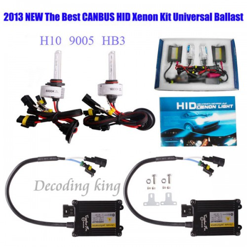 55W CANBUS XENON FULL HID CONVERSION KIT AC Works with all cars Updated version black