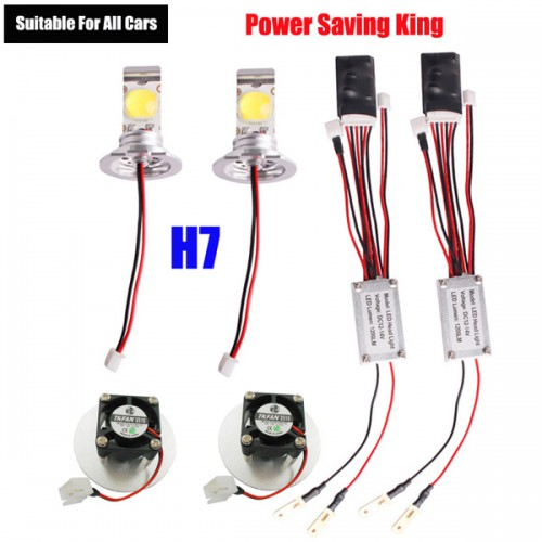 2013 22W Super Power Saving H7 Premium High Power LED Headlight Conversion Kit DC 12V (Suitable for all cars)