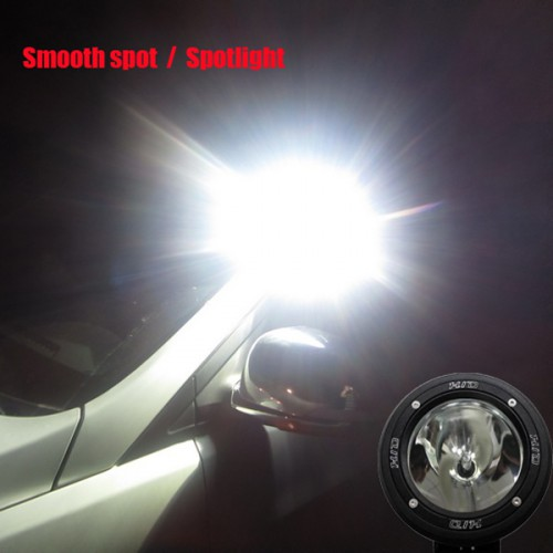 "55W 2PCS 7"" Inch HID XENON DRIVING LIGHTS Spotlights/Floodlights OFFROAD Lights 12V 24V 6000K"