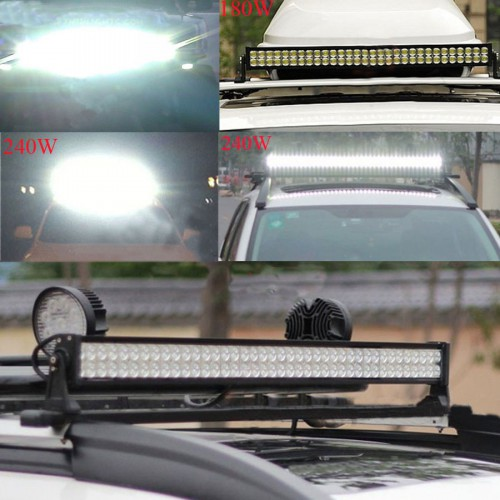 "NEW 33"" 180W FLOOD SPOT LED ALLOY WORK LIGHT BAR 4WD BOAT UTE DRIVING SAVE"