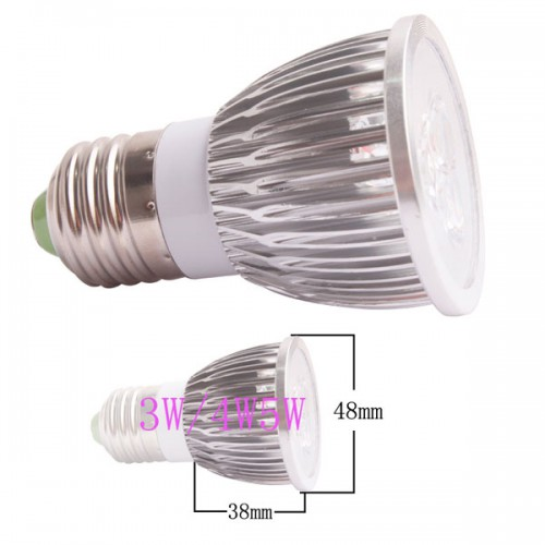 350LM 3W E27 GU10 E14 GU5.3 LED Light Lamp Bulb AC85-265V 110V 220V Cool Warm White 5pcs/lot