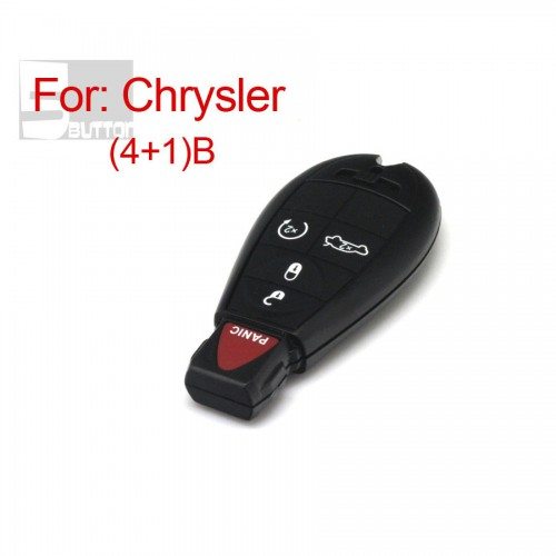 Smart Key Shell 4+1 Button Durable In Use for Chrysler
