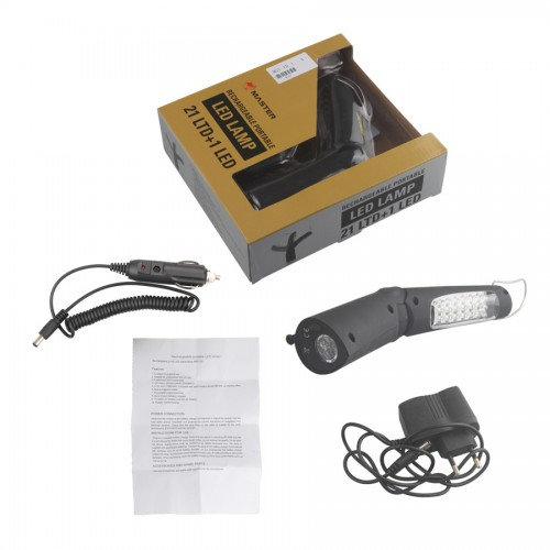 Rechargeable and portable LED lamp MST-7D with battery
