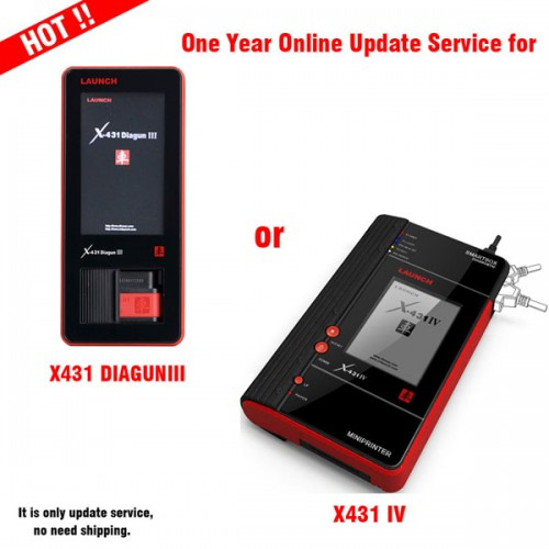 Launch X431 Diagun iii/IV one year update service