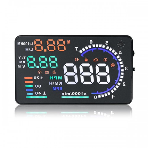 "5.5"" Large Screen Car HUD Head Up Display With OBD2 Interface Plug & Play A8"
