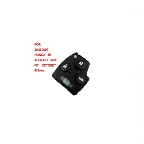 Remote 433mhz 3 button (2005-2007) for Honda Accord Civic Fit Odyssey