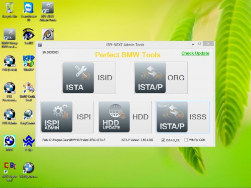 V2015.6 ICOM HDD for BMW ISTA-D 3.49.30 ISTA-P 3.55.4.000 support Win8 system English and German