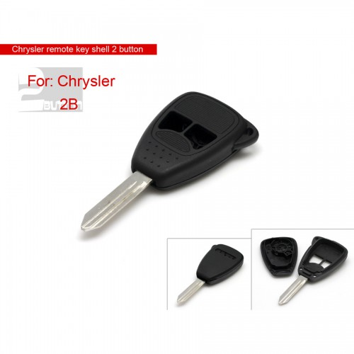 Remote Key Shell 2 Button (Small Button) for Chrysler 5 Pcs/lot