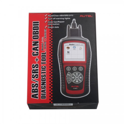 Original Autel AutoLink AL619 OBDII CAN ABS and SRS Scan Tool update online Free Shipping From UK