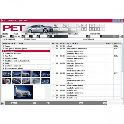 PET 7.3 For Porsche Multi-language Free Shipping