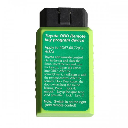 OBD Remote Key Programming Device for Toyota G and Toyota H Chip Vehicle