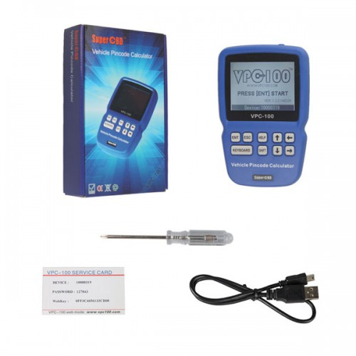 VPC-100 Hand-Held Vehicle PinCode Calculator (With 300 Tokens+200 Tokens)
