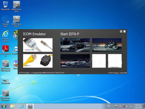 Cheap V2016.7 ICOM Software HDD for BMW ISTA-D 3.55.31 ISTA-P 3.59.0.600 with Engineers Programming Windows 7 System
