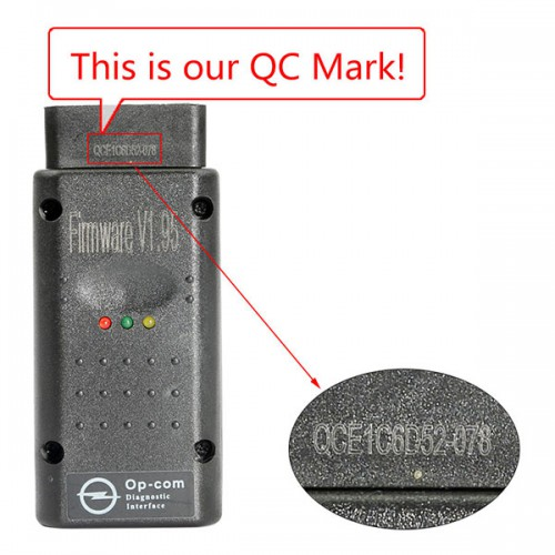 High Quality Opcom OP-Com V1.95 Firmware 2010/2014 V Can OBD2 for OPEL Free Shipping