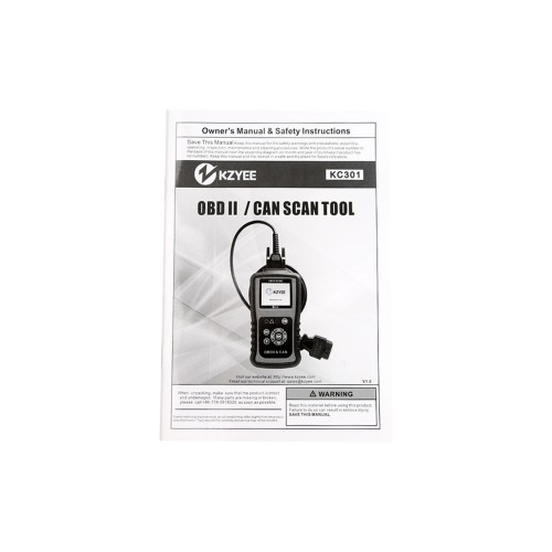 Original KZYEE KC301 OBDII / CAN SCAN TOOL With Shipping Free