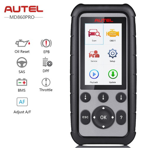 Autel MaxiDiag MD806 Pro OBD2 Scanner Full System Diagnostic Tool Support multi-language & Lifetime Free Update