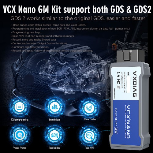 VXDIAG VCX NANO for GM/OPEL GDS2 Diagnostic Tool Shipping from UK