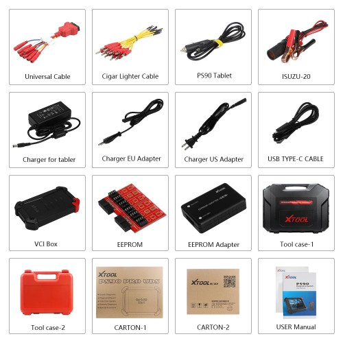 XTOOL PS90 PRO Car and Truck 2 in 1 Diagnostic Tool