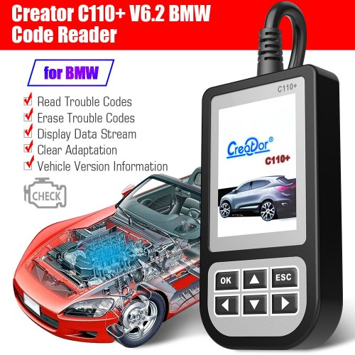 100% Original Creator C110+ V6.2 Code Reader for BMW Shipping from UK