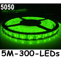 New 5M Car Green 5050 SMD LED Waterproof Flexible Strip 12V 300 LEDs