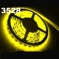 New 5m Waterproof Yellow SMD 3528 Flexible 300 LED Strip