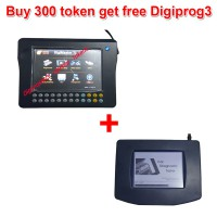 300 Tokens for Digimaster 3/CKM100/CKM200 Get Free Digiprog 3 Main unit and OBD Cable