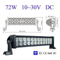 72W 6000K LED Light Bar High Power Alloy Work Light 4WD SECKELL