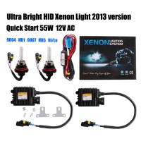 2013 Quick Start SLIM XENON HID KIT H4 H13 9004 9007 Hi/Lo AC 12V