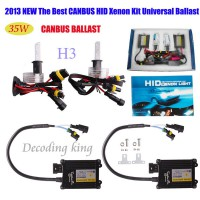 2013 Best 35W CANBUS XENON FULL HID CONVERSION KIT H1 H4 H3 H7 9004 9005 AC 12V Works With All Cars