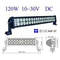 "24"" 120w Led light bar FLOOD light SPOT light WORK light off road light 4wd boat 12V 24V white"