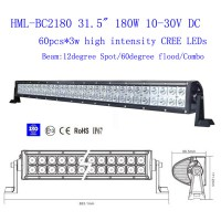 2013 180W 31.5 inch CREE Led light bar FLOOD light SPOT light WORK light off road light 4wd boat white