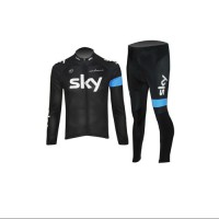 2014 Men's Autumn Winter Cycling jersey long sleeves with trousers Breathable garment