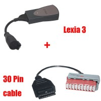 Lexia-3 Diagnostic For Citroen/Peugeot Plus Lexia-3 30 pin cable (square interface)