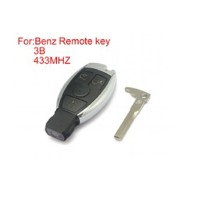 Remote Key Shell 3 Buttons 433 mhz for Mercedes-Benz Waterproof (Choose SA1252)