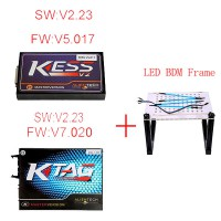 V5.017 KESS Plus V7.020 KTM100 KTAG Plus LED BDM Frame Package Offer Get ECM TITANIUM V1.61 for free Shipping From UK