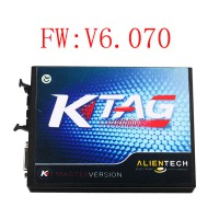 V2.13 KTAG K-TAG Master V6.070 Firmware ECU Programming Tool with Unlimited Token get ECM TITANIUM V1.61 18475 driver for Free(Choose SE135-B1)