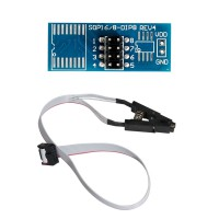 High quality SOIC8 SOP8 Test Clip For EEPROM 93CXX/25CXX/24CXX in-circuit programming on USB Programmer TL866CS TL866A EZP2010