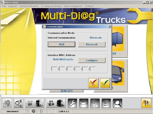 Multi-Diag Truck Heavy Duty Diagnostic Tool software bluetooth