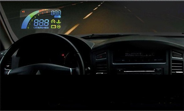 Car HUD Vehicle Head Up Display OBDⅡ OBD2 Over Speeding Warning