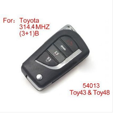 Modified Remote key 4Buttons 314.4MHZ for Toyota (no chip inside)