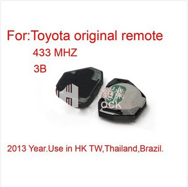 Remote 3 Button 433MHZ for Toyota
