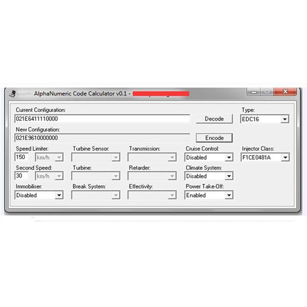 ALPHANUMERIC CODE CALCULATOR for IVECO
