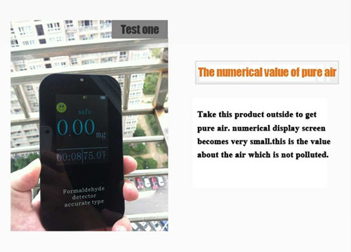 Handheld Mini Portable Precision Formaldehyde Monitor/Multi AIR Detector