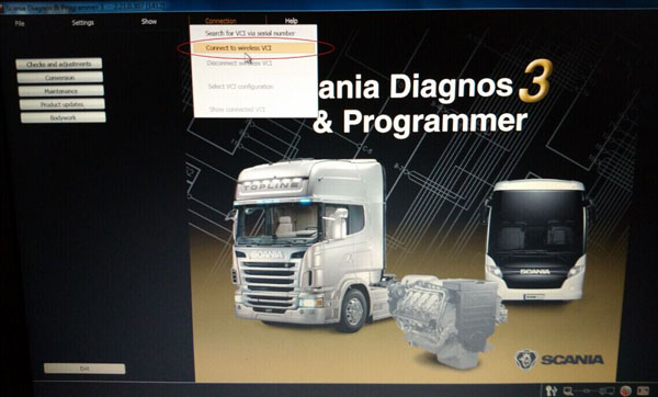 Scania VCI-3 VCI3 Scanner Wifi Wireless Diagnostic Tool for Scania Multi-language
