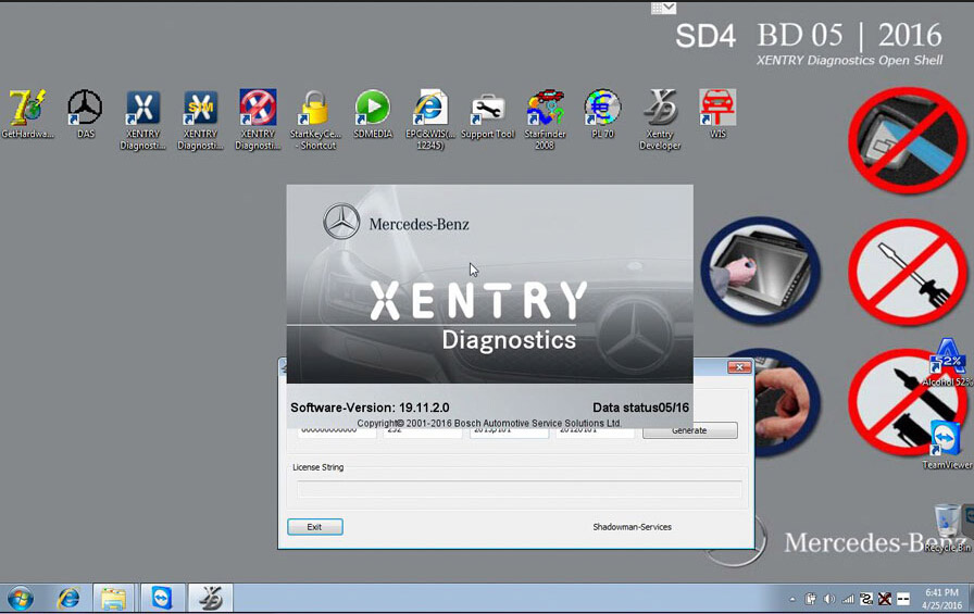 V2016 5 MB Star C3 Software 256GB SSD D630 Format Support WIN7/WIN8