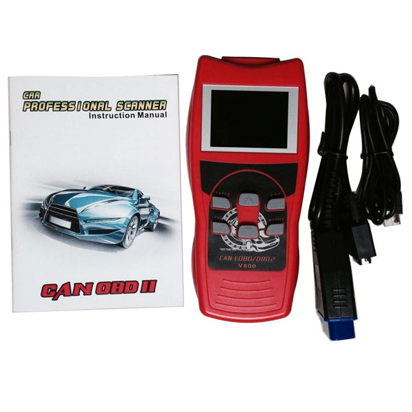 V800 Colorful CAN-Bus OBDII OBD2 EOBD Trouble Code Read