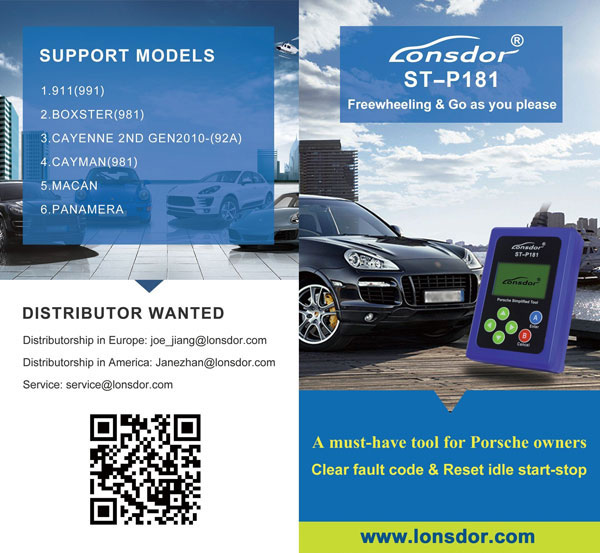 LONSDOR SP-P181 Code Reader for Porsche