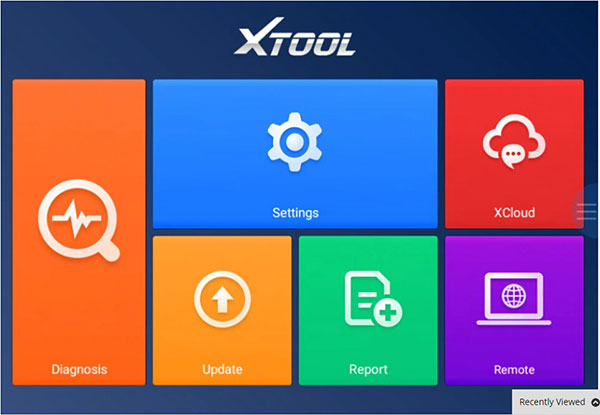 2018 XTOOL A80 H6 Screen Display